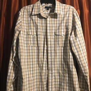 Banana republic plaid button down shirt XL